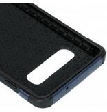 Army Defender Backcover voor Samsung Galaxy S10 - Blauw