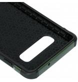 Army Defender Backcover voor Samsung Galaxy S10 - Groen