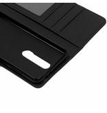 Luxe Lederen Booktype voor Nokia 5.1 Plus - Donkerblauw