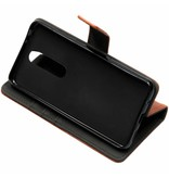 Nokia 5.1 Plus hoesje - Luxe Lederen Booktype voor
