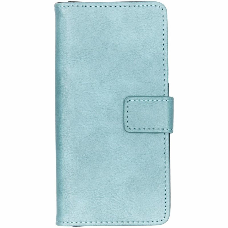 Lichtblauw luxe leder booktype hoes Nokia 5.1 Plus