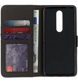Lichtblauwe luxe leder booktype hoes voor de Nokia 5.1 Plus