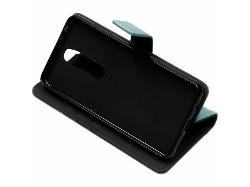 Nokia 5.1 Plus hoesje - Lichtblauwe luxe leder booktype