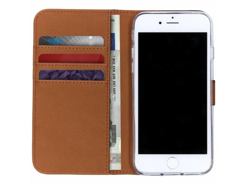Selencia Luxe Softcase Booktype voor iPhone 8 / 7 / 6s / 6 - Zwart