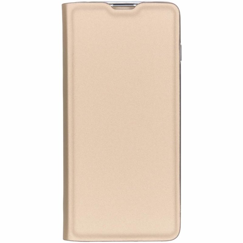 Goud luxe stand booktype hoes Samsung Galaxy S10