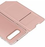 Rosé Gouden luxe stand booktype hoes voor de Samsung Galaxy S10