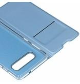 Lichtblauwe luxe stand booktype hoes voor de Samsung Galaxy S10