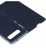 Donkerblauwe luxe stand booktype hoes voor de Samsung Galaxy S10