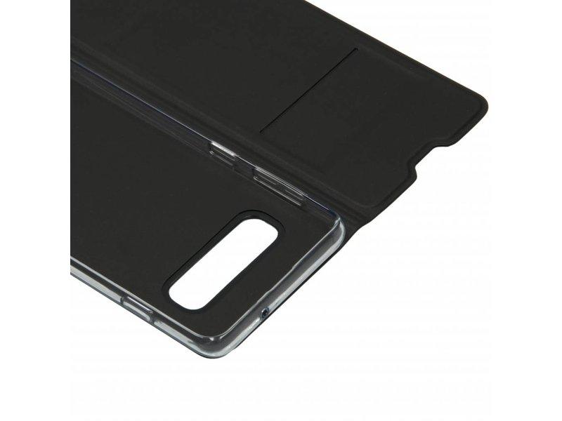 Samsung Galaxy S10 hoesje - Zwarte luxe stand booktype