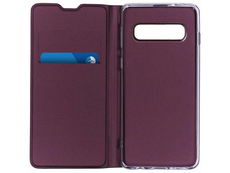 Samsung Galaxy S10 hoesje - Luxe Stand Booktype voor