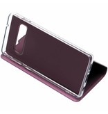 Paarse luxe stand booktype hoes voor de Samsung Galaxy S10