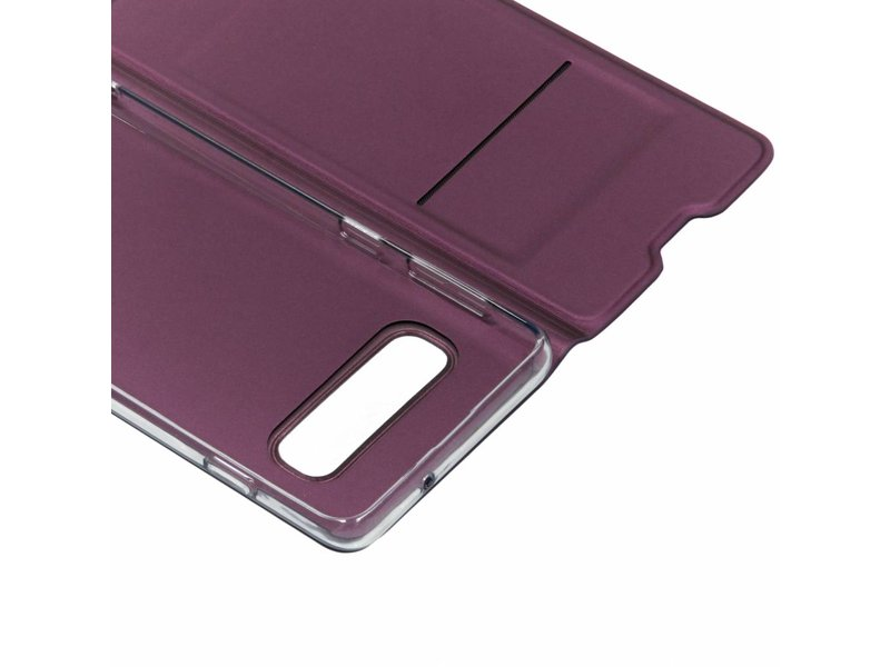 Samsung Galaxy S10 hoesje - Paarse luxe stand booktype