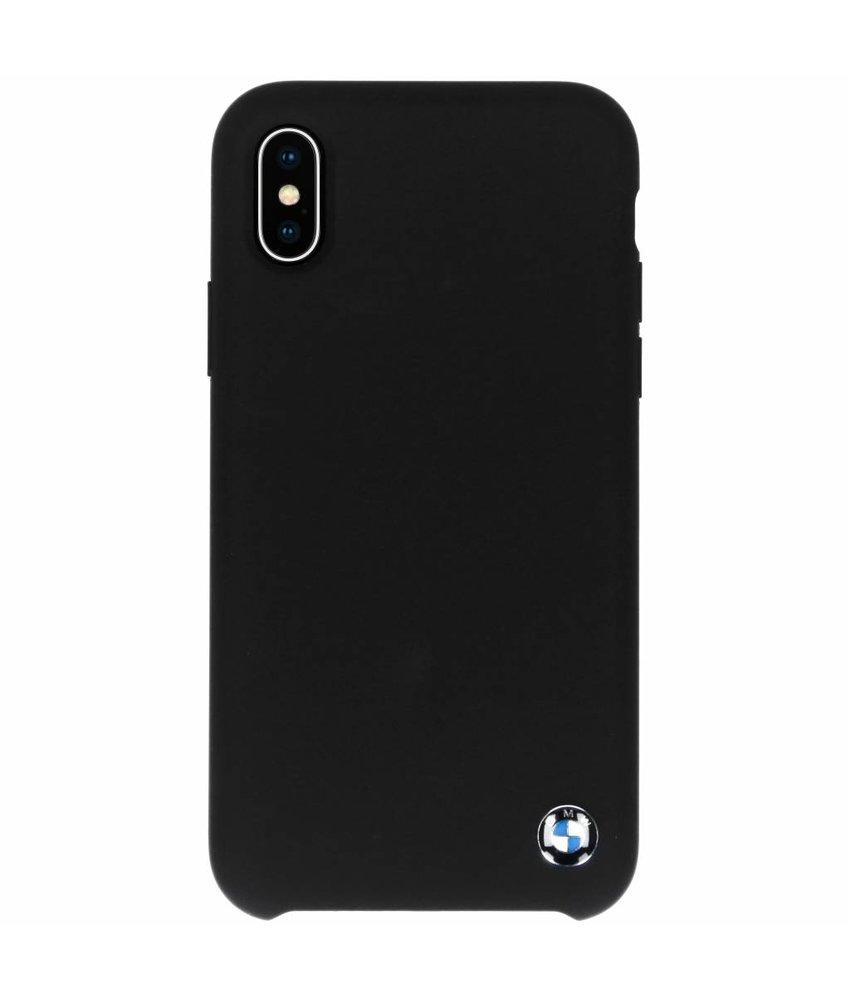 BMW Zwart Silicone Hard Case iPhone Xs / X