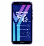 Paars s-line TPU hoesje voor de Huawei Y6 (2018)