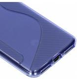 S-line Backcover voor Huawei Y6 (2018) - Paars