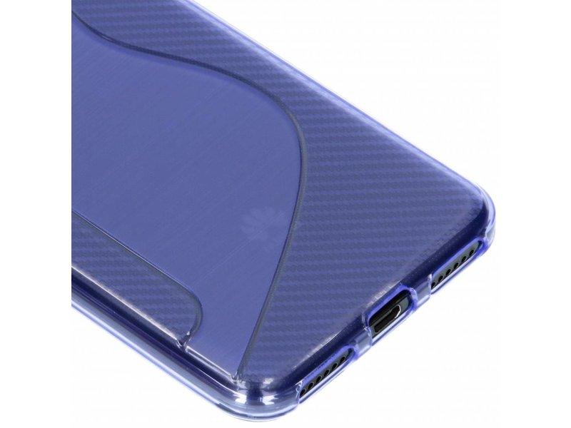 Huawei Y6 (2018) hoesje - Paars s-line TPU hoesje