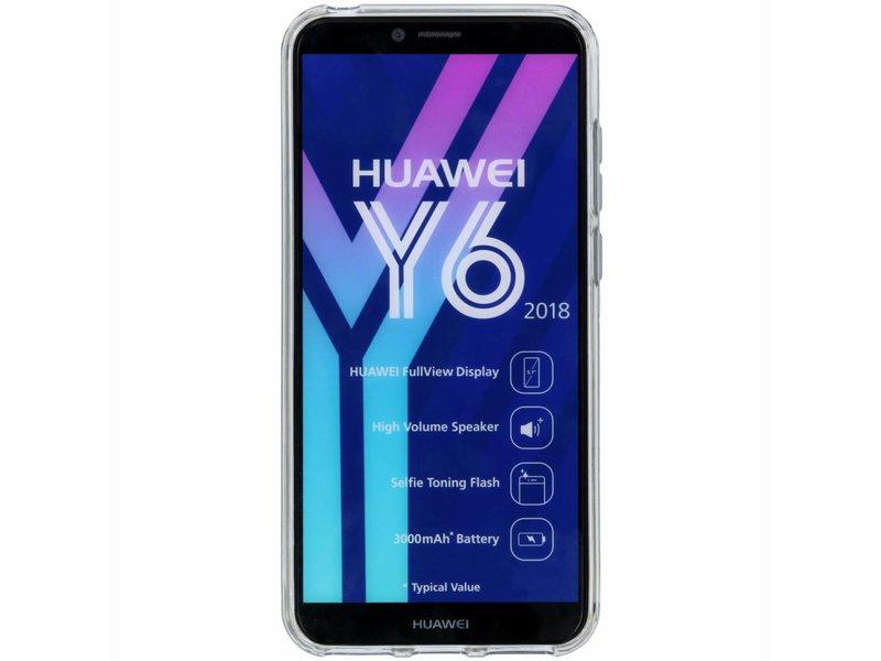 Huawei Y6 (2018) hoesje - Transparant s-line TPU hoesje