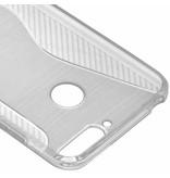 Transparant s-line TPU hoesje voor de Huawei Y6 (2018)
