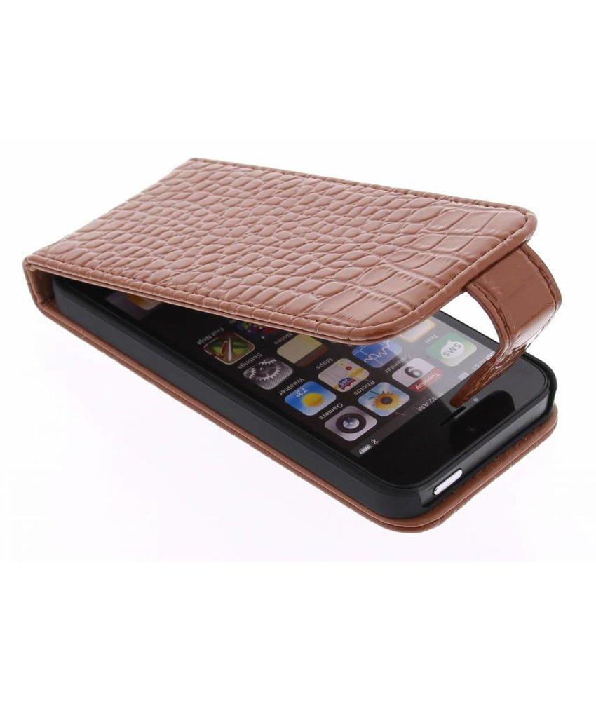 Krokodil Flipcase iPhone SE / 5 / 5s