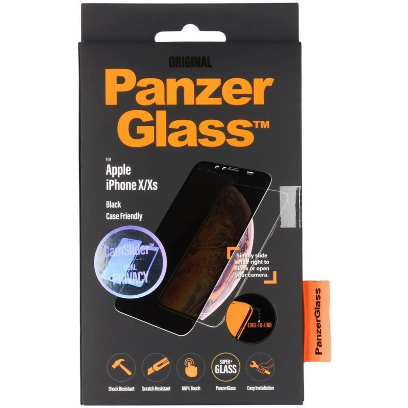 PanzerGlass CamSlider™ Privacy Screenprotector iPhone X / Xs