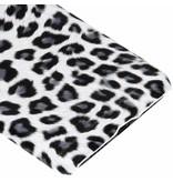 Huawei P20 Pro hoesje - Wit luipaard design hardcase