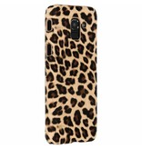Samsung Galaxy J6 hoesje - Bruin luipaard design hardcase