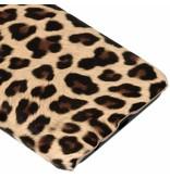 Bruin luipaard design hardcase hoesje voor de Samsung Galaxy J6