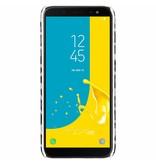 Luipaard Design Backcover voor Samsung Galaxy J6 - Wit