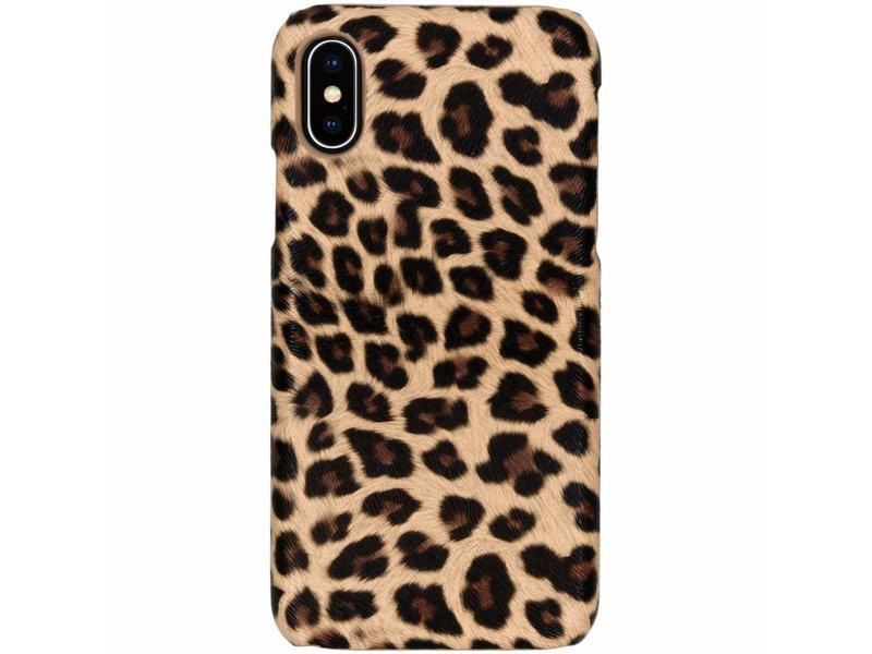 Luipaard Design Backcover voor iPhone X / Xs - Bruin