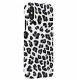Luipaard Design Backcover voor iPhone X / Xs - Wit