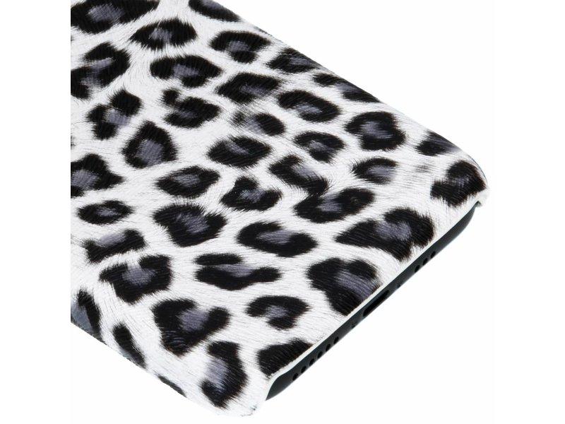 Wit luipaard design hardcase hoesje voor de iPhone Xs / X