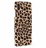 Luipaard Design Backcover voor iPhone Xs Max - Bruin