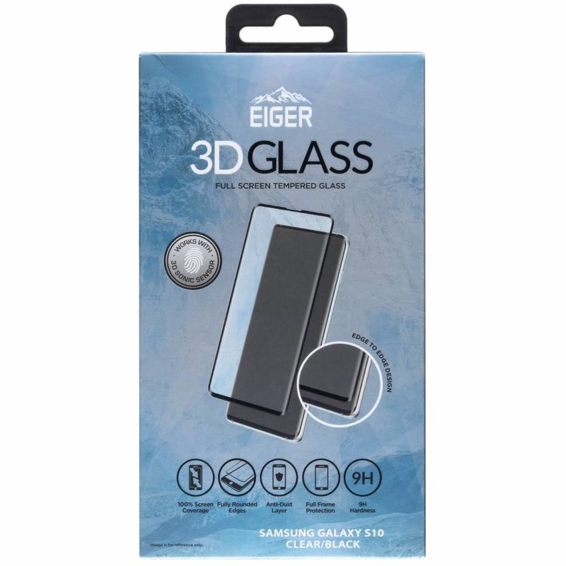 Eiger Edge to Edge Glass Screenprotector Samsung Galaxy S10