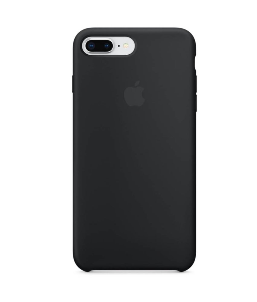 Apple Silicone Backcover iPhone 8 Plus / 7 Plus - Zwart