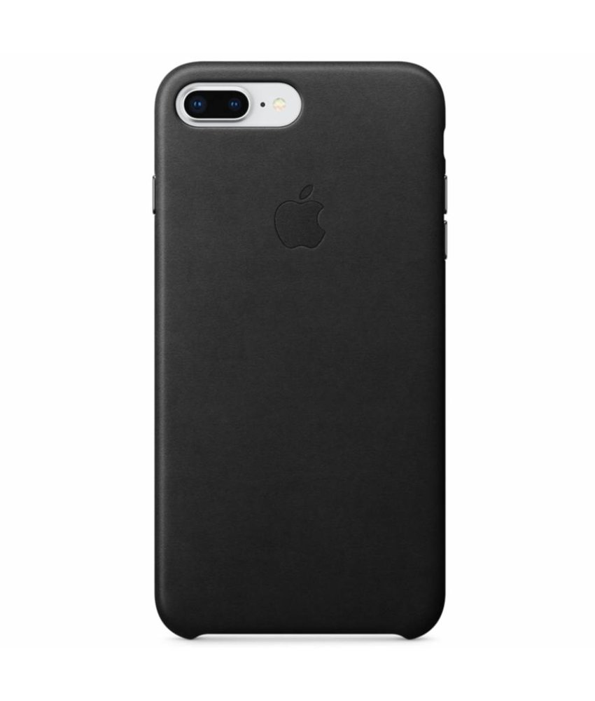 Apple Leather Backcover iPhone 8 Plus / 7 Plus - Zwart