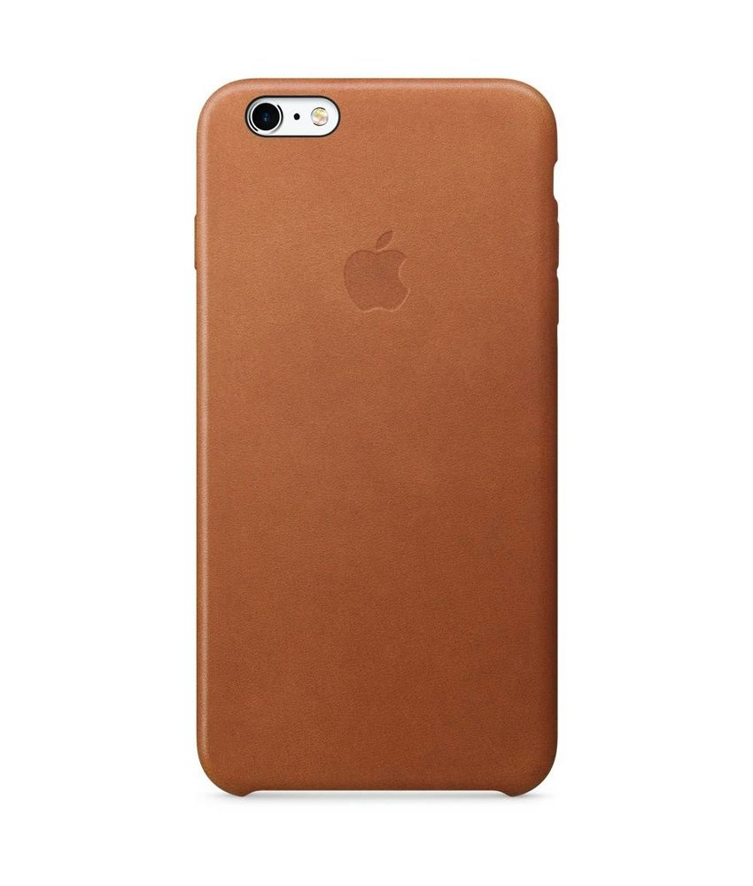 Apple Leather Backcover iPhone 6(s) Plus - Bruin