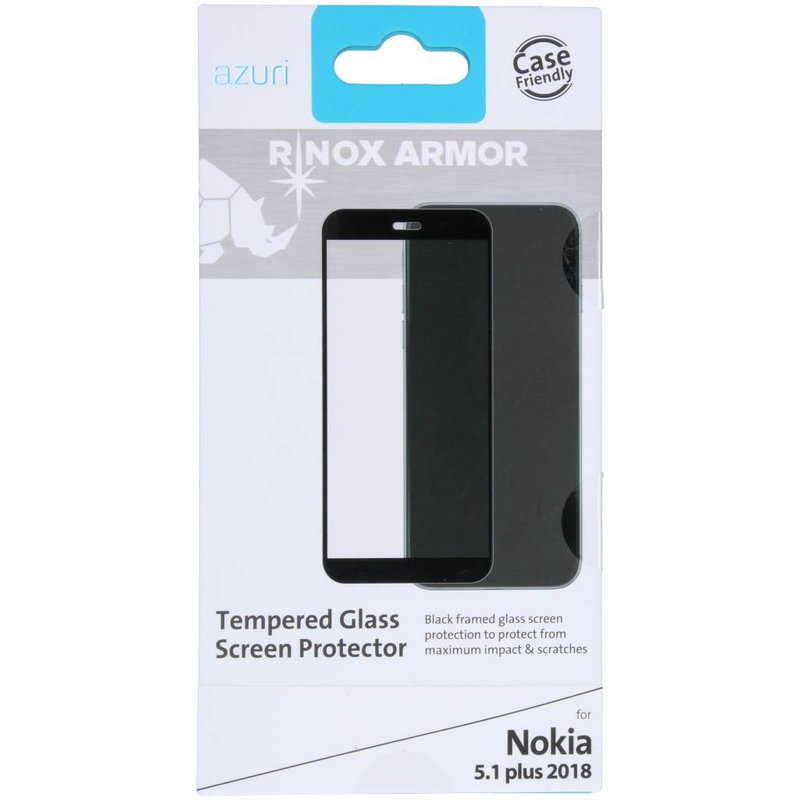 Azuri Tempered Glass Screenprotector Nokia 5.1 Plus