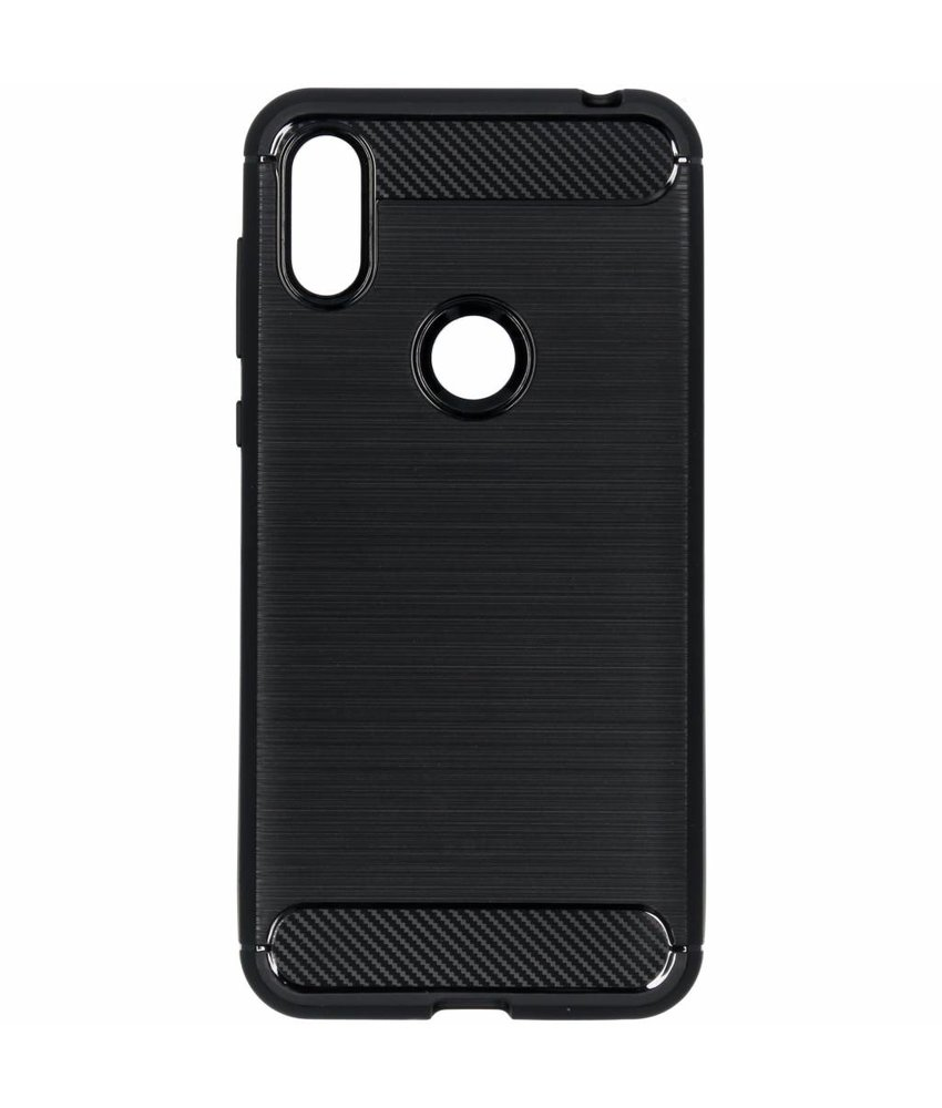 Brushed Backcover Motorola One - Zwart