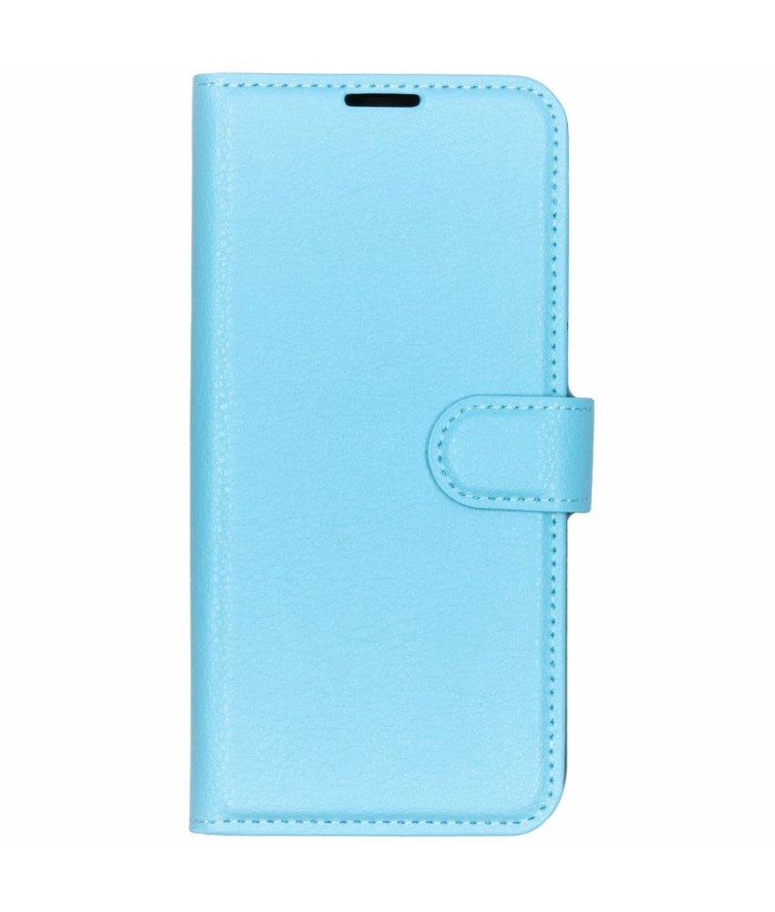 Basic Litchi Booktype Huawei P30 Lite - Blauw