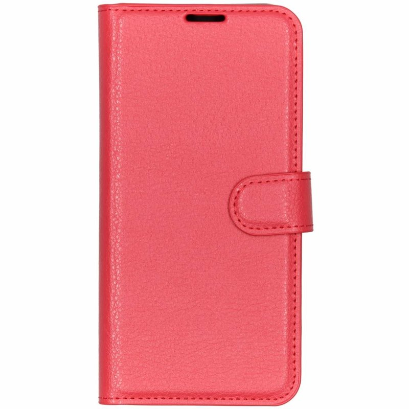 Basic Litchi Booktype Huawei P30 Lite - Rood