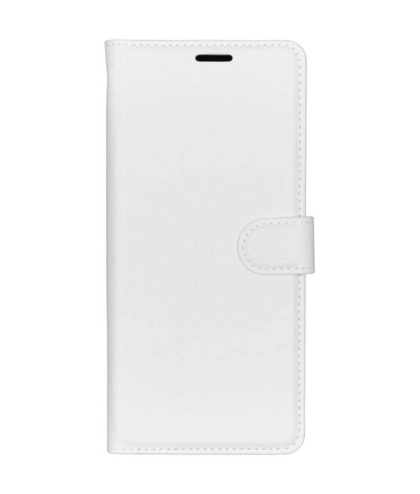 Basic Litchi Booktype Sony Xperia 1 - Wit