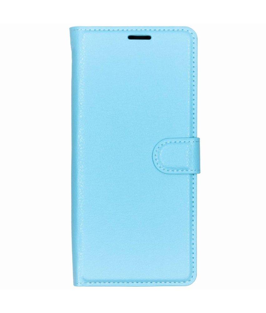 Basic Litchi Booktype Sony Xperia 1 - Blauw