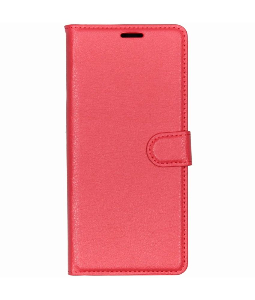 Basic Litchi Booktype Sony Xperia 1 - Rood