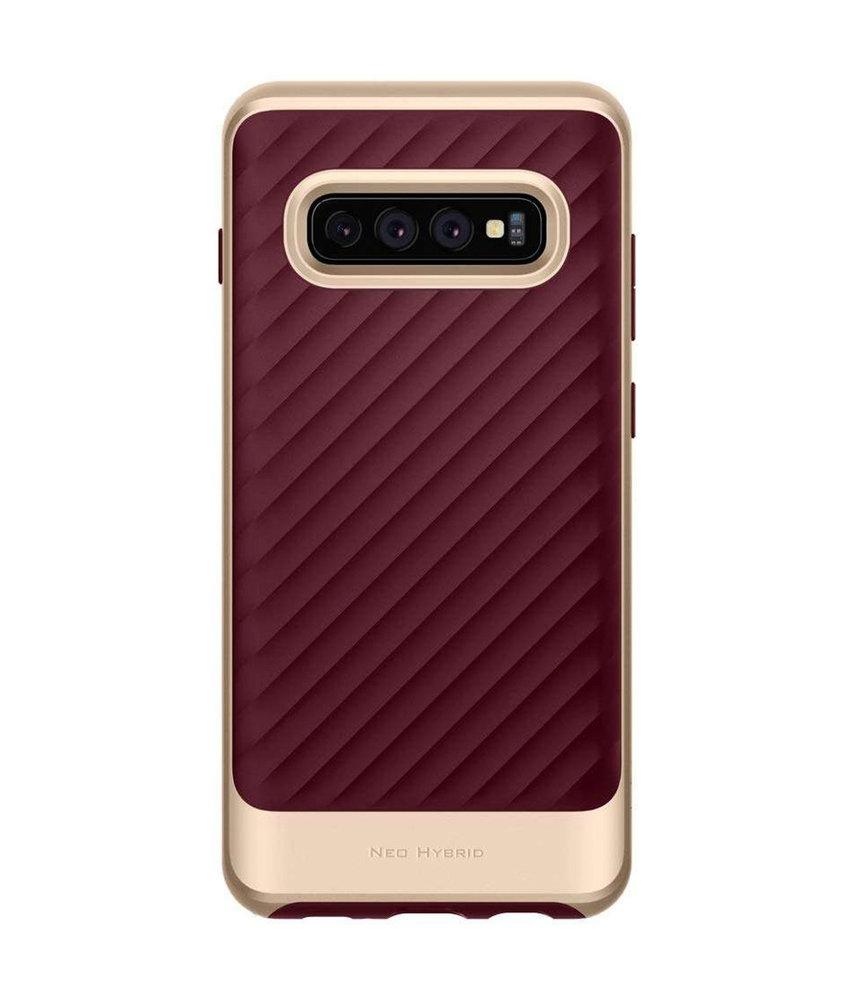 Spigen Neo Hybrid Backcover Samsung Galaxy S10 - Rood