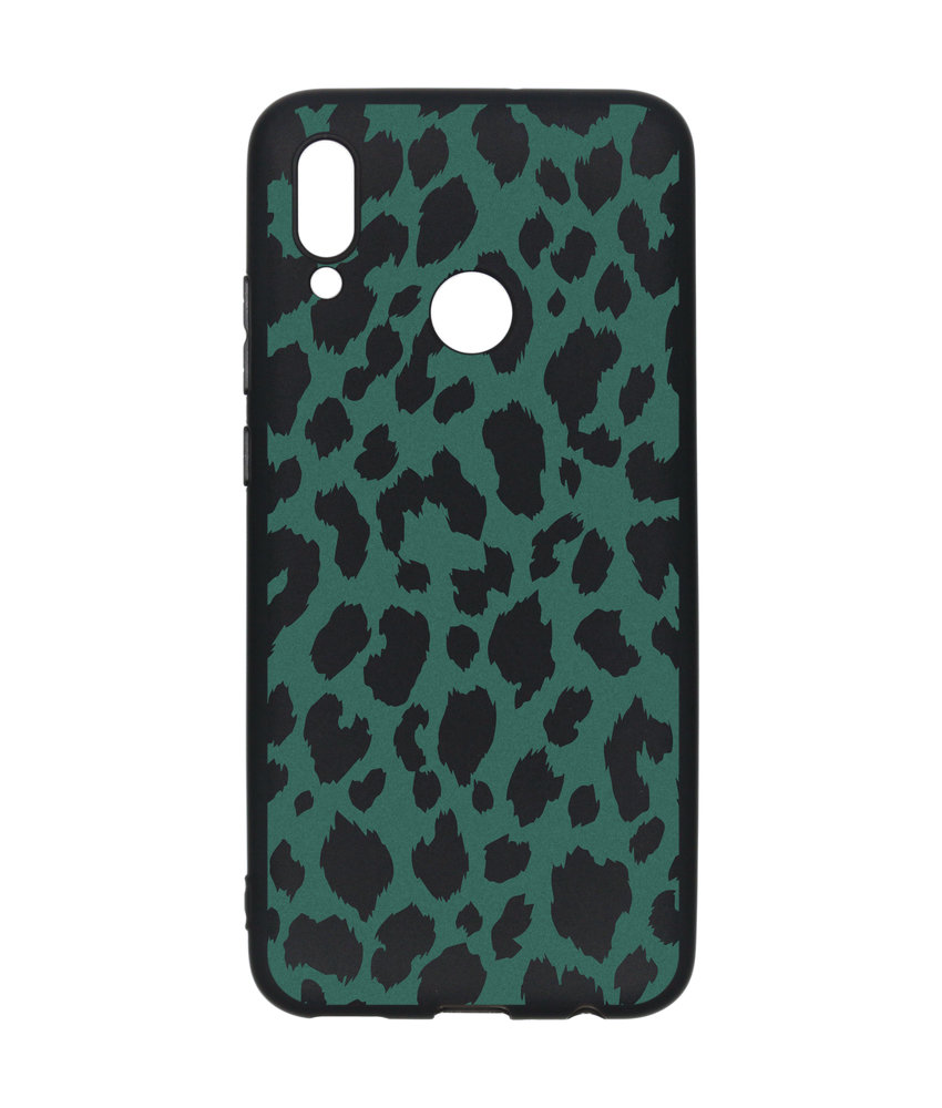 Design Backcover Color Huawei P Smart (2019) - Panter Groen