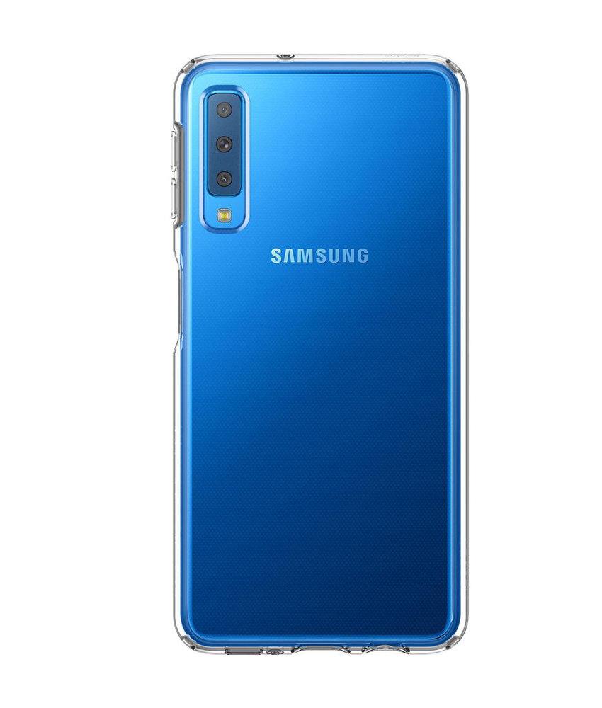 Spigen Liquid Crystal Backcover Galaxy A7 (2018) - Transparant