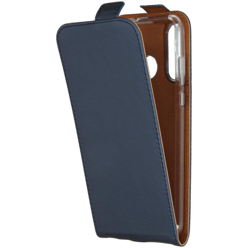 Selencia Luxe Softcase Flipcase Huawei P30 Lite - Donkerblauw