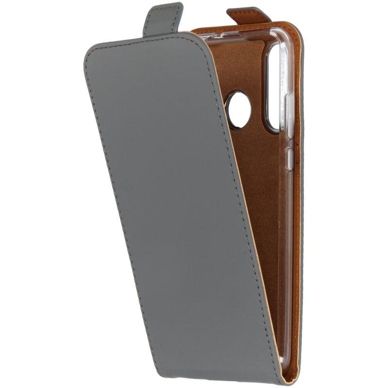 Selencia Luxe Softcase Flipcase Huawei P30 Lite - Grijs