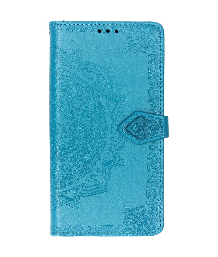 Mandala Booktype Motorola Moto G7 / G7 Plus - Turquoise