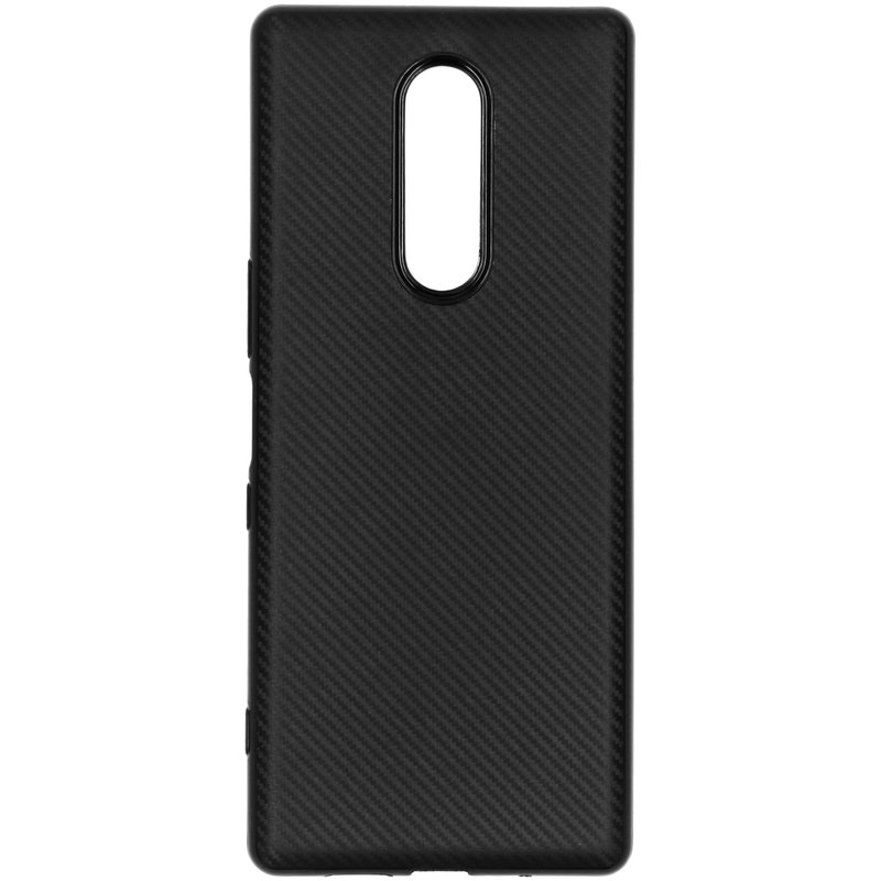 Carbon Softcase Backcover Sony Xperia 1 - Zwart
